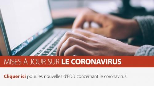 Mises à jour sur le coronavirus