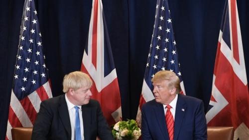 Le Premier ministre britannique Boris Johnson et le président américain Donald Trump.