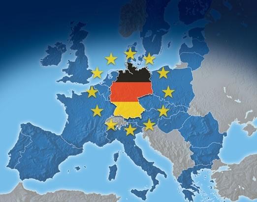 Une carte de l'Europe qui met l'Allemagne au point