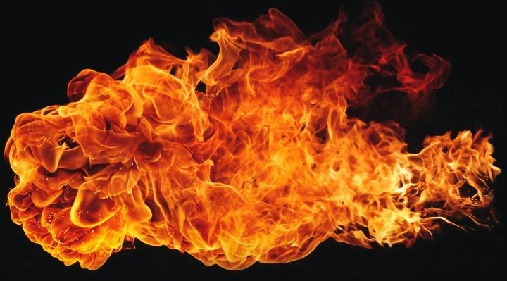 Une flamme