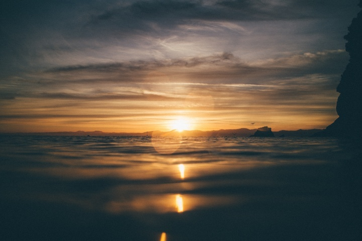 Un beau coucher du soleil